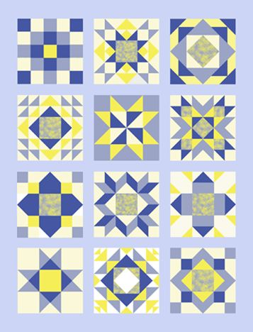 The #1 Sampler Quilt takes you through the Mini-Block Instruction Booklet, block by block, teaching you the basics in an orderly fashion. Description from one-block-only-beginner-quilting.com. I searched for this on bing.com/images