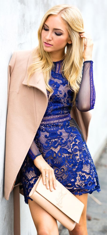 Blue Lace Little Dress by Angel Food Style