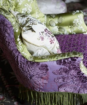 purple green-- I love these colors and I love the textures but I'm not sure how well this would well, esp with cats....