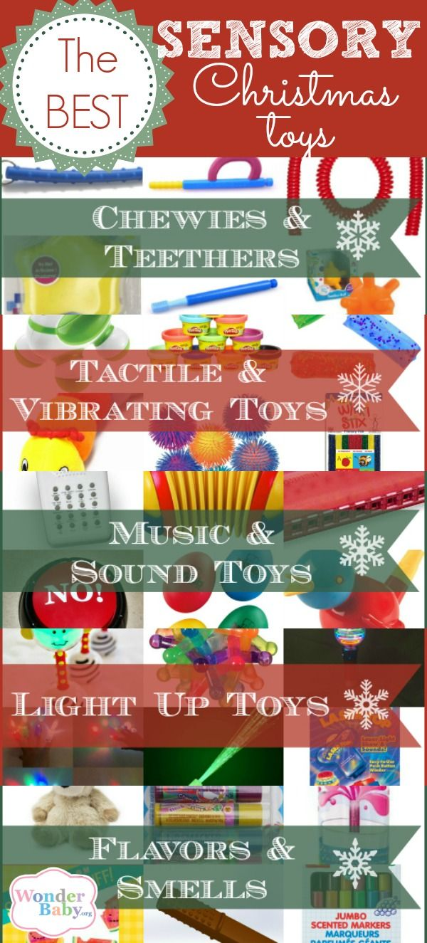 30 of the best sensory Christmas toys for kids with sensory processing disorder (SPD) or autism (ASD).