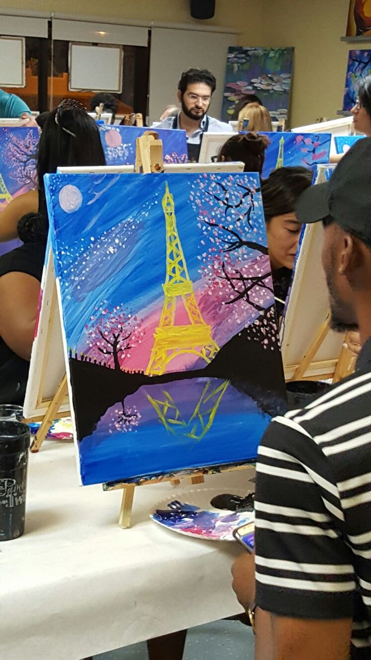 Sip n paint with son