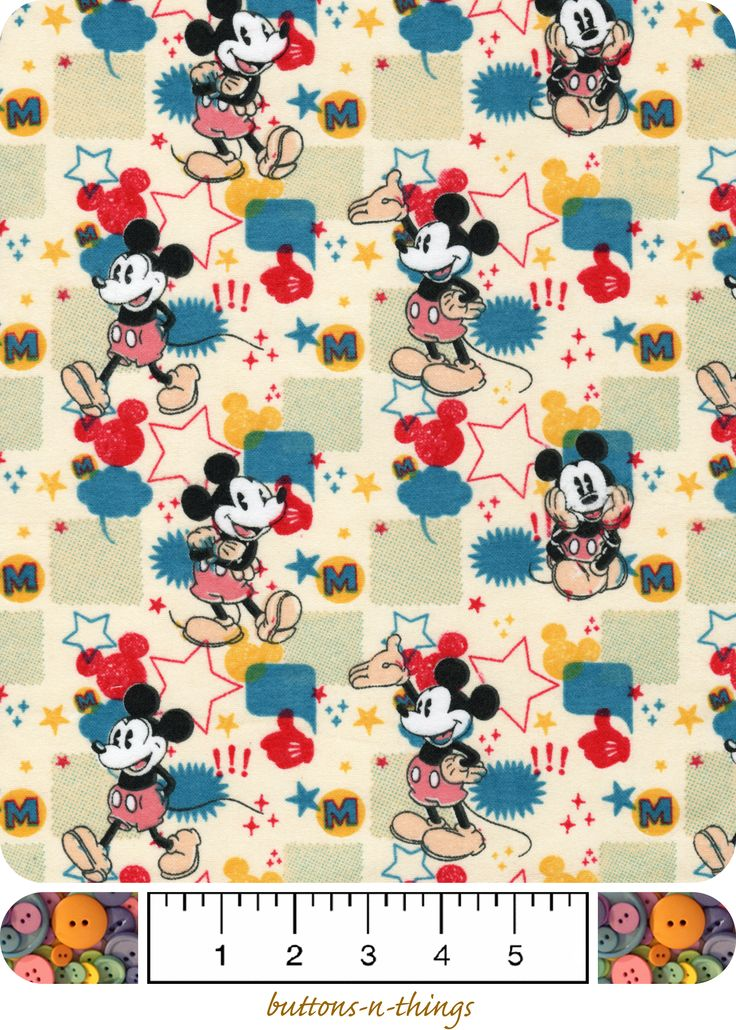 17 Best Images About Mickey Mouse And Minnie Mouse Fabrics