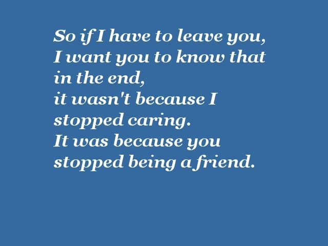 end of friendship quotes | friend end