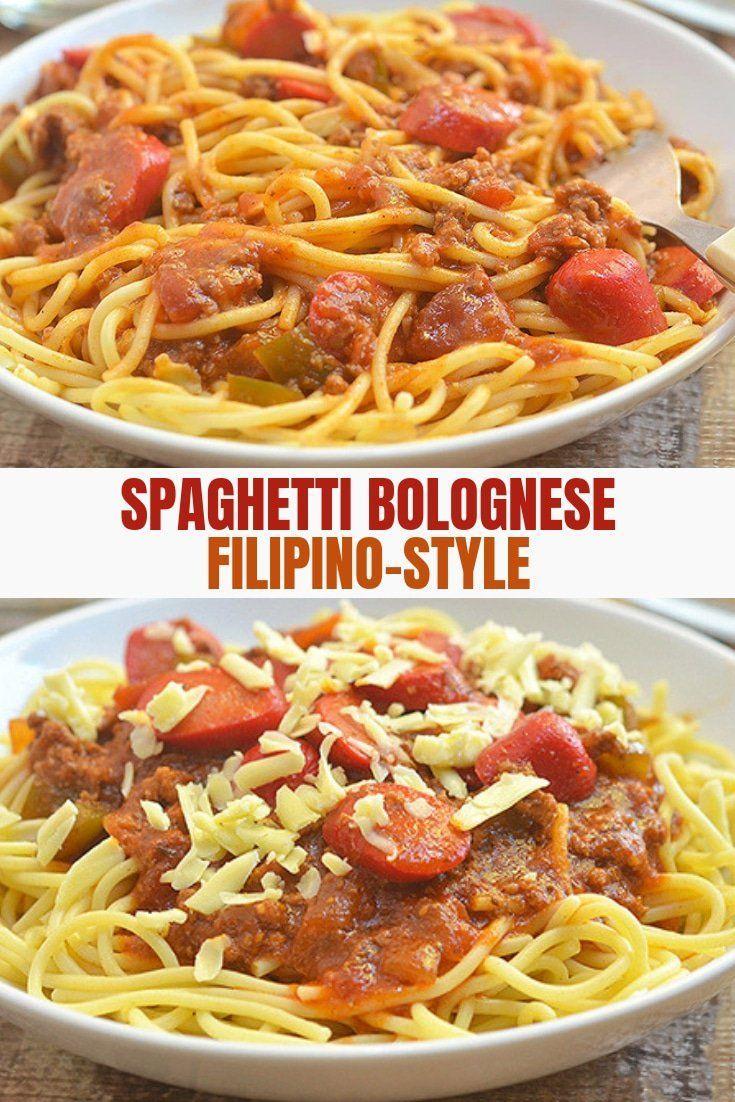 Filipino Style Spaghetti Recipe Filipino Style Spaghetti Recipes Spaghetti Recipes
