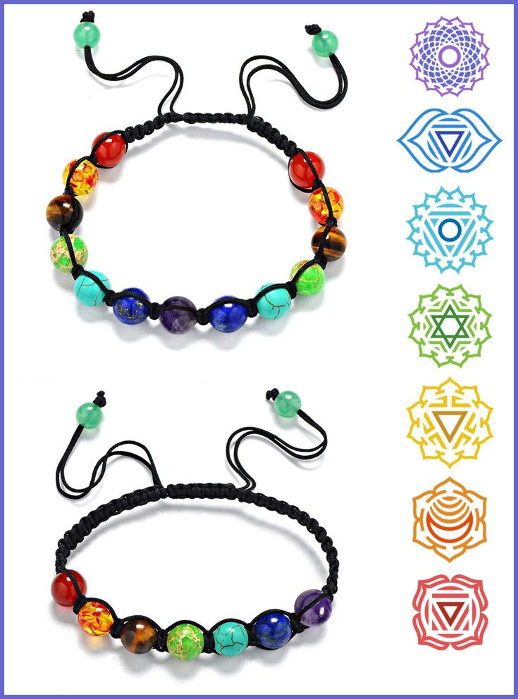 Chakras are awesome! Chakra Healing Balance Bead Bracelet It comes in two options, 7 bead option and a 13 bead option.