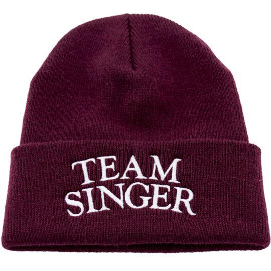 TEAM SINGER Beanie (maroon)