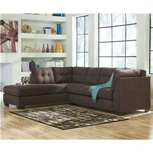 benchcraft maier walnut 2piece sectional with left chaise item number