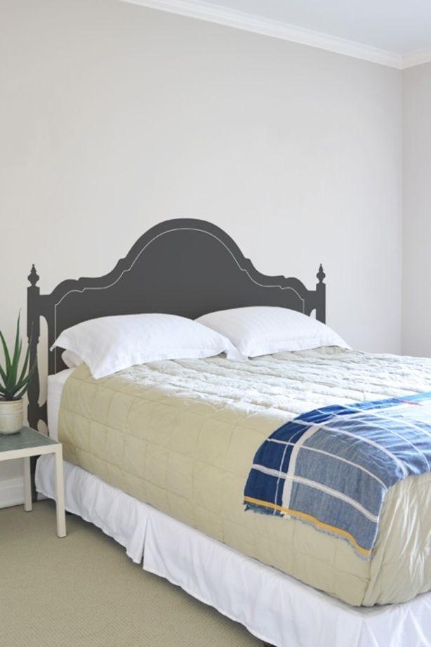 Opplakbaar hoofdbord voor je bed.