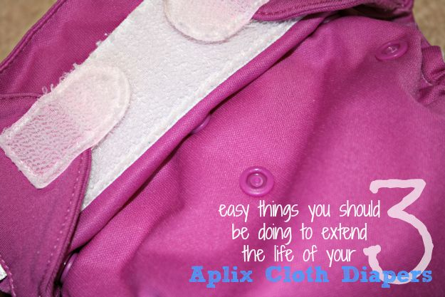 3 Easy Tips to Make Your Aplix Cloth Diapers Last Longer