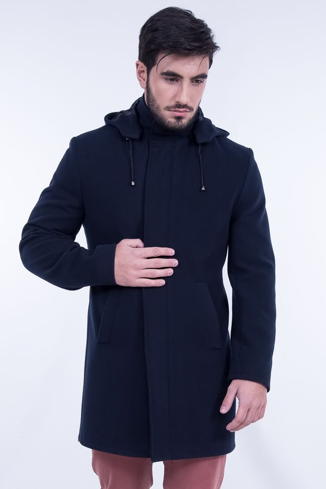 Hooded Coat In Mid Lenght