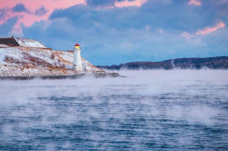 "Adam Cornick (@acorn_art_photography): ""Happy Holidays everyone! Here's image 13/17 of #my17of17 Sea Smoke on the Halifax Harbour. Have a…"""