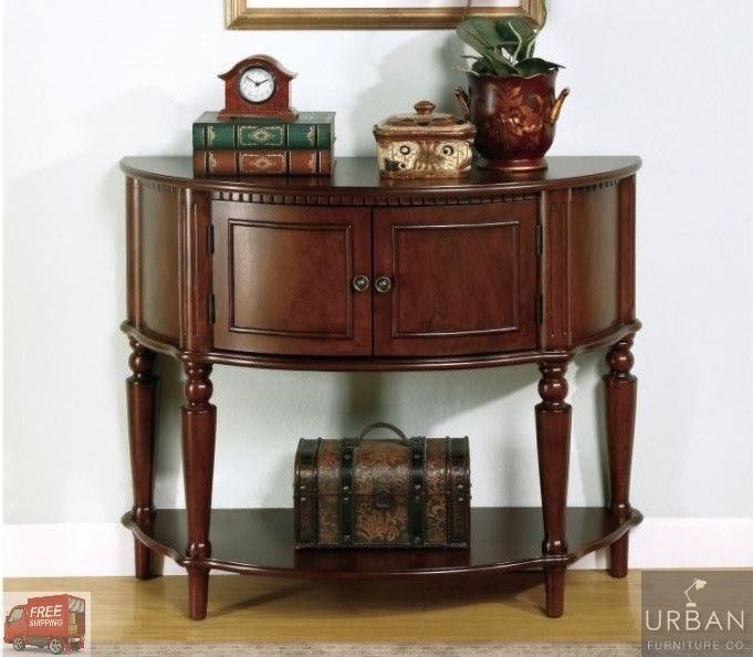 Details About Elegant Antique Entryway Table Console Wood Storage Shelve Cabinet Accent Foyer Entryway Console Table Traditional Console Tables Wooden Console Table