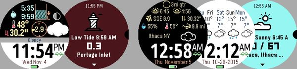 Fair Tides and Fair Weather #Pebble apps published for the Pebble Time Round. @PebbleDev