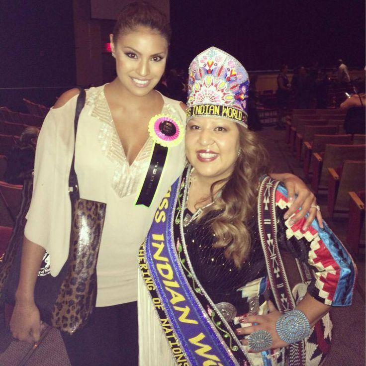 Ashley Callingbull with Miss Indian World 2013 Kansas Begaye!