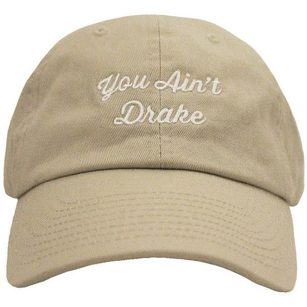 You Ain't Drake (13.335 CRC) ❤ liked on Polyvore featuring accessories, hats and white hat