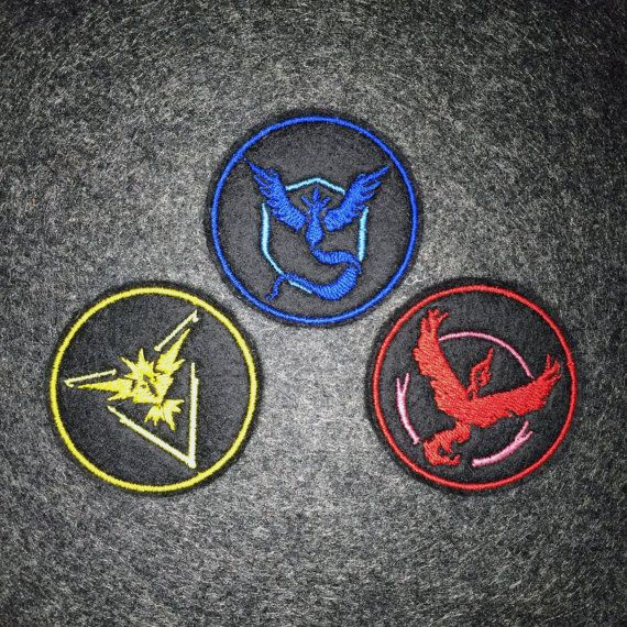 What better way to show pride for Pokemon Go than with a set of Team badges! Buy the set and save! These premium patches are embroidered with vivid colours on a durable felt base. Each measures approximately 2.0 x 2.0  The patches can be sewn or ironed on to your favorite knapsacks, jeans or jackets. For removable options, choose our pin backed version that has a bar pin fastened to the back.