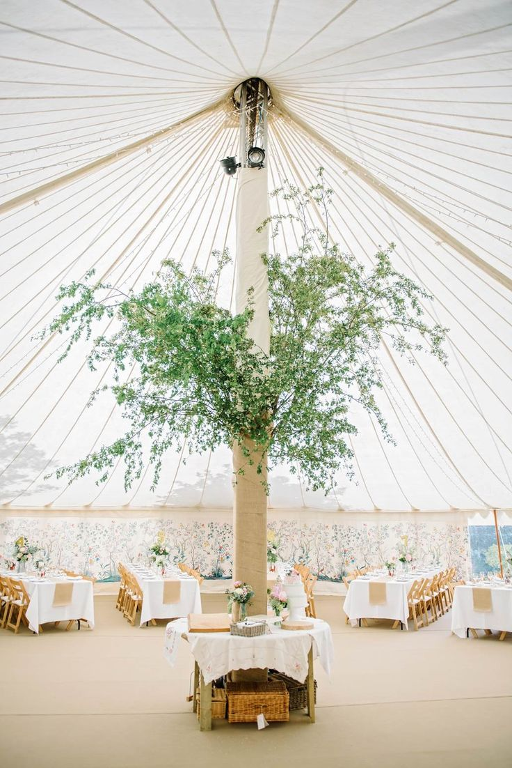 LPM Bohemia's Traditional Circular Tent with a tree pole feature.