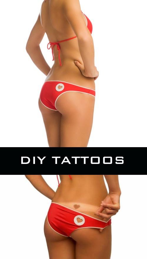 DIY Tattoo bikini! (from kiSkin).  If I ever get back into a bikini.
