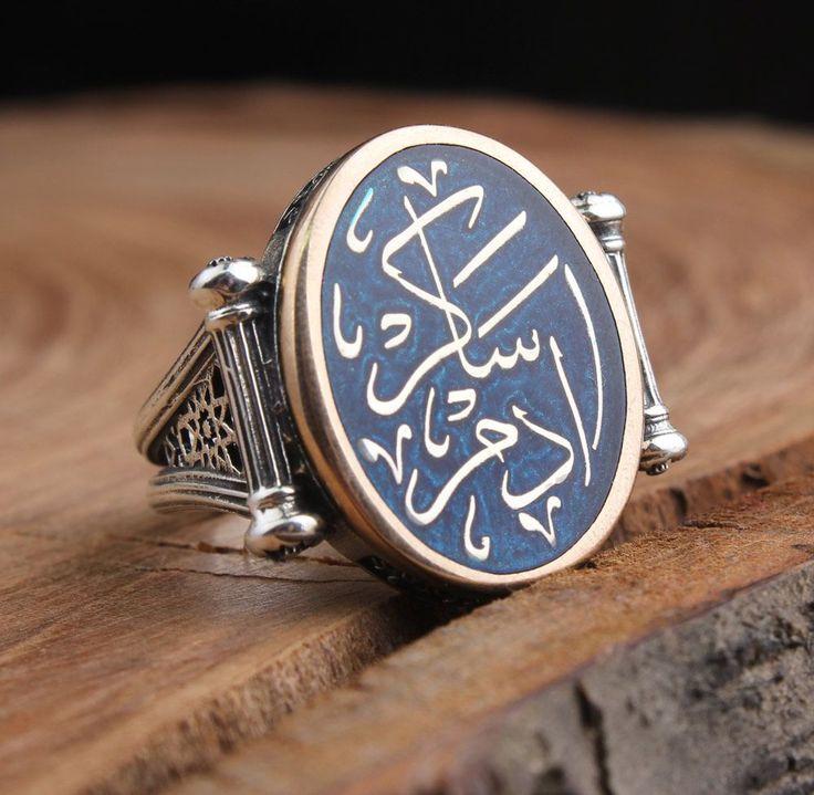 İsme Özel Hat Sanatı İle Eski Osmanlıca Yazılı Gümüş Yüzük