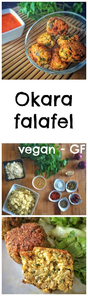 Original falafels made with okara and chickpea flour + mint #vegan #glutenfree Falafels originales à l'okara et à la menthe