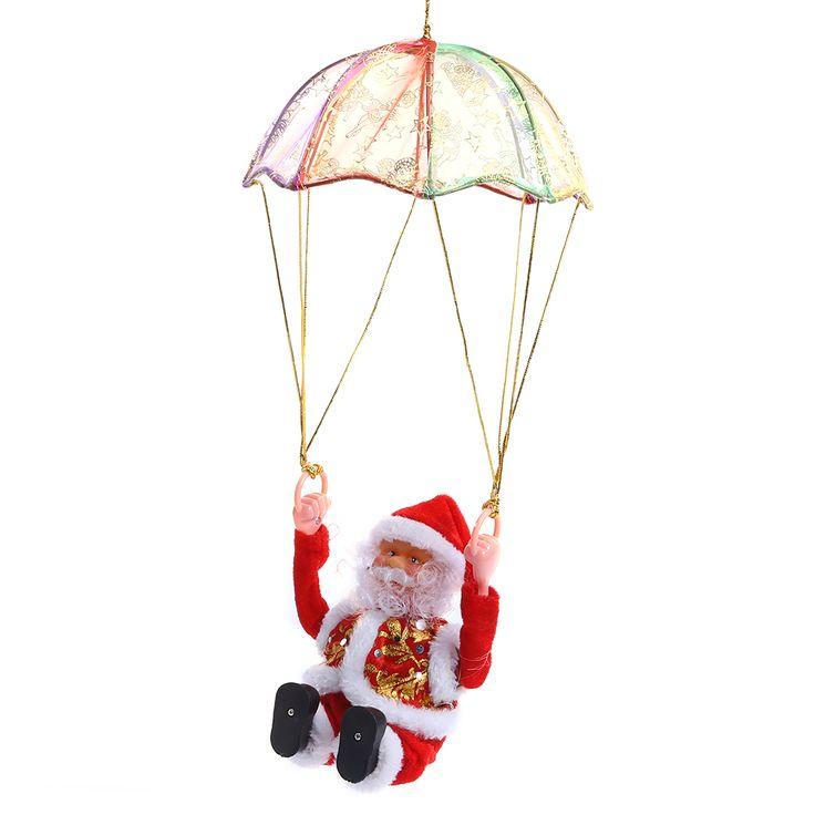 Ikeacasa Parachute new electric Santa Claus Babbo Natale Papá Noel Père Noël sing Christmas songs plush doll parachute //Price: $16.25 & FREE Shipping //     #lifestyle #amazing #furniture