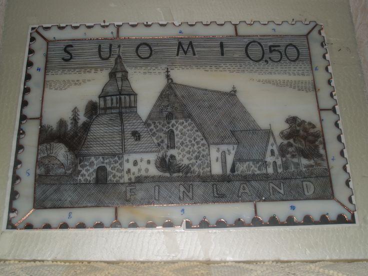 Lammin kirkko, tiffany- ja kaiverrustekniikka.
