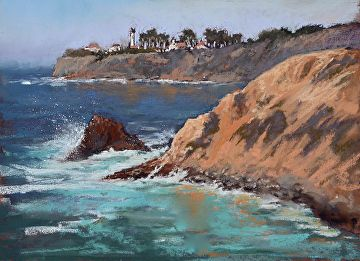 Point Vicente by Kathy Howard Pastel ~ 9 x 12