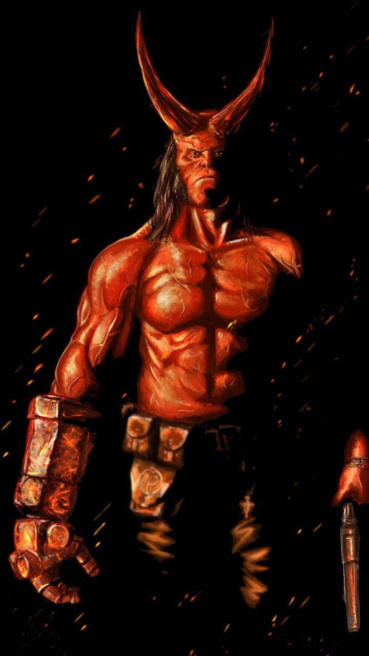Hellboy 2019 Movie Artwork 720x1280 Wallpaper Movie Artwork Superhero Wallpaper Hellboy Wallpaper