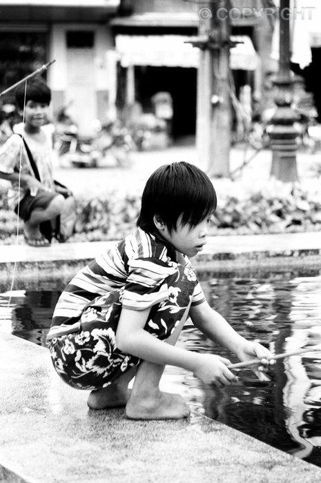 Fishing - Cho Lon Binh Tay Market, Chinatown, Saigon