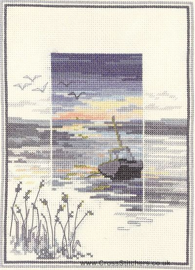 Low Tide - Sunsets - Cross Stitch Kit by Derwentwater Designs