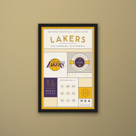 Los Angeles Lakers Stats Print