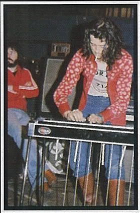 Jimmy Page playing pedal steel guitar with Bonzo in back....fave pic