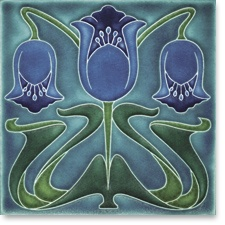 Motawi Coronet Tile - Violet - by Charles Rennie Mackintosh