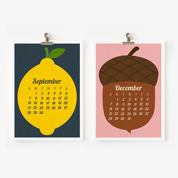 2014 Calendar Retro Fruit and Vegetable Calendar, Kitchen decor 4 x 6 or 5 x 7,  2014 calendrier, Kalendar