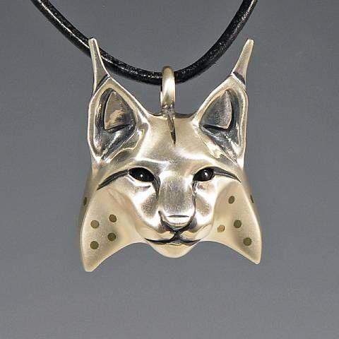 Handcrafted Animal Totem Jewelry Silver Lynx Jewelry
