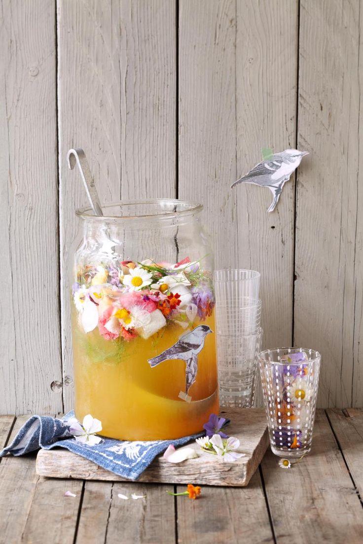 Blütenbowle mit Fenchel
