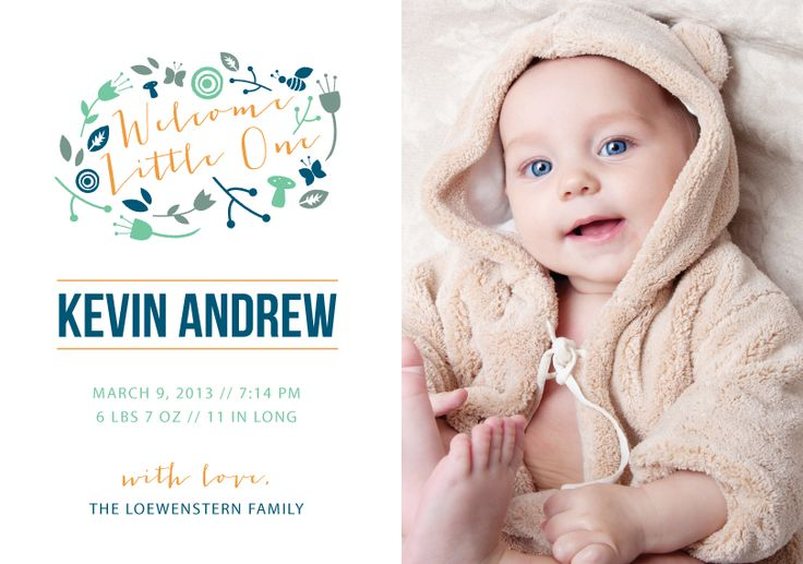 """""""Our Little One"""" Birth Announcement by Shari Margolin"""
