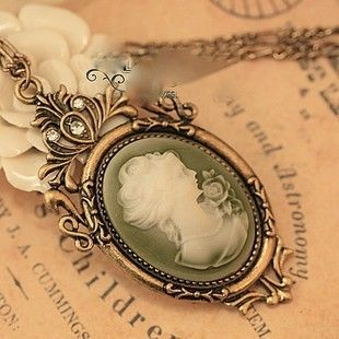 I love cameo necklaces. Beautiful!
