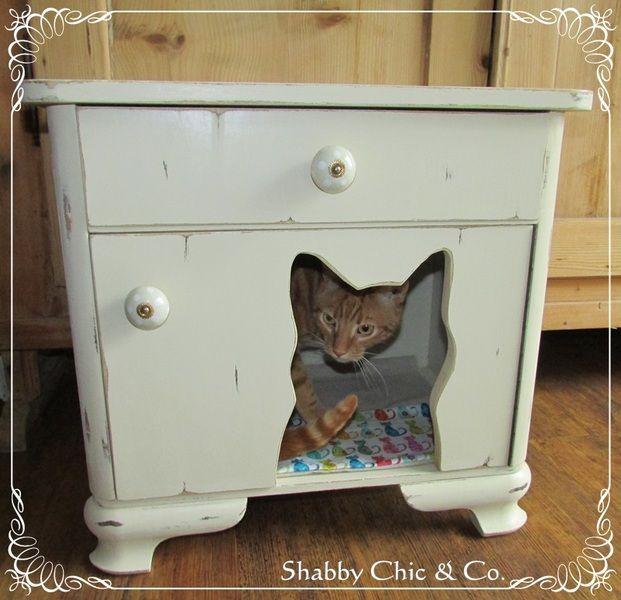 Schlafhaus für Katze im Shabby Chic von Shabby Chic & Co. auf DaWanda.com