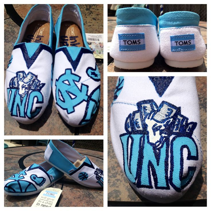 UNC Basketball themed shoes