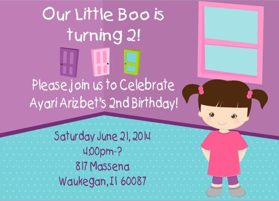 Monsters Inc. Boo Party Birthday Invitations by PerfectWrappers, $8.00