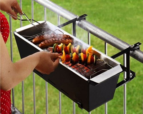 Great idea if you love to braai but you have a small balcony