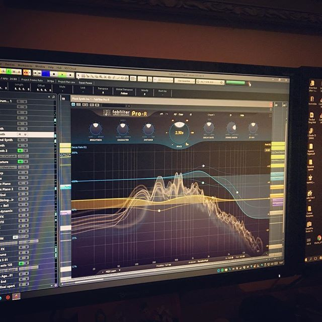 Great new reverb from FabFilter 👍 #fabfilter #developdevice #cubase #mixing #recording #plugin