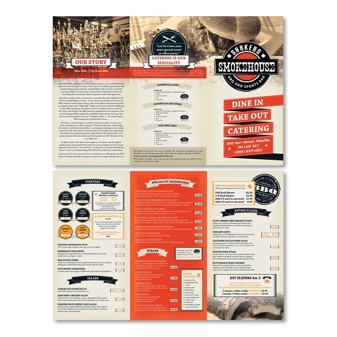Southern BBQ Menu by Tadeya