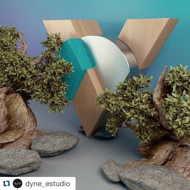 #Repost @dyne_estudio with @repostapp  -V- #36daysoftype #36days_V Lo logramos! Ya pueden entrar a ver todas nuestras letras en @behance ---> link en el bio. We did it!  See the full project in our @behance ---> link in the bio . . #Dyne #c4d #cinema4d #arnoldrender #arnoldrenderer #v #letterV #3D #graphicdesign #silver #3dtype #typography #type #geometric #solidangle #wood #green #plants #nature #rocks #maxon #motiondesign #led #santiago #Chile by c_roberto
