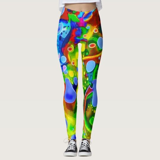"""50% OFF Leggings –Use CODE: EIGHTISGREAT 'til Midnite Tonite 4-25-17. Totally new. Totally now! Your legs will be trippin' groovy throughout the day when you set the trend with these intensely psychedelic leggings. The art is created from my Kinetic Collage """"Sweet Dreams"""" series of light show photos. Over 3000 products at my Zazzle online store. Open 24/7  World wide! Custom one-of-a-kind items shipped to your door. This art is only…"""