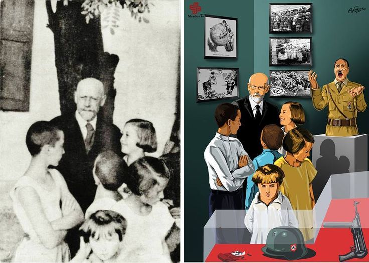 Doctor Janusz Korczak with children
