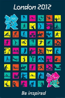 London 2012 Olympics (Pictograms)  Be Inspired!    LOVE IT!!!