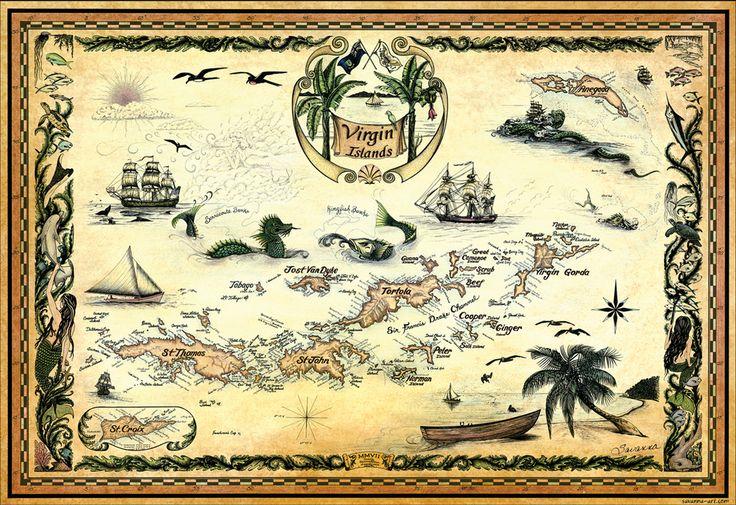 Nautical Charts Online - NOAA Nautical Chart 25641, Virgin