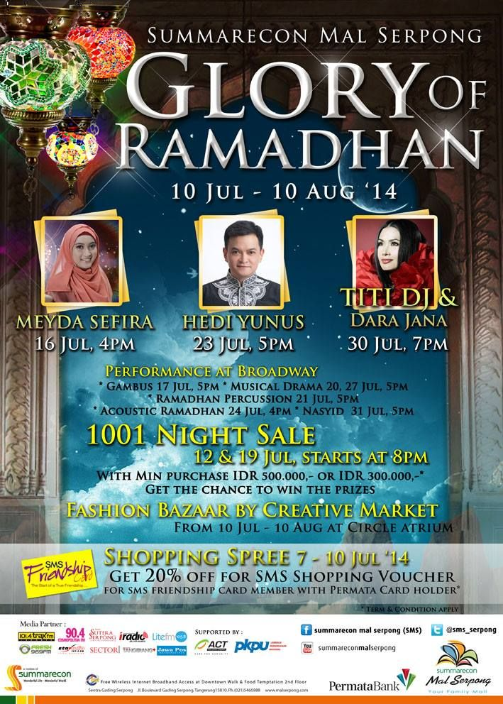 Glory Of Ramadhan, 10 July - 10 August 2014 at Summarecon Mal Serpong @sms_serpong